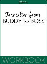 Transition From Buddy To Boss™ Workbook Cover